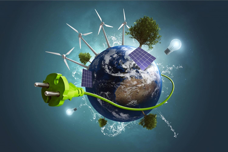 Klimaschutz Weltkugel Green Energy